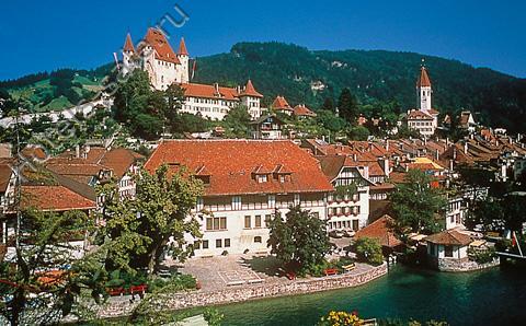 Большая гостиница в Тун, в Швейцарии