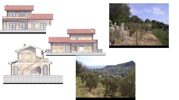 Согласованный проект на строительство виллы у ворот княжества Монако – в Италии, Лигурийское побережье.