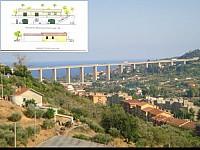 Участок с проектом на строительство дома рядом с Империей – столицей провинции Империя на Лигурийском побережье Италии.