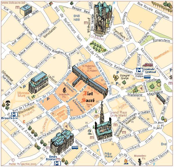 Дом в 100 м от исторической центральной площади Брюсселя – Гран Плас – самой красивой площади всего мира.
