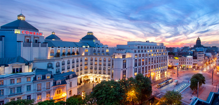 Гостиница в Брюсселе, в нескольких шагах от авеню Луизы.