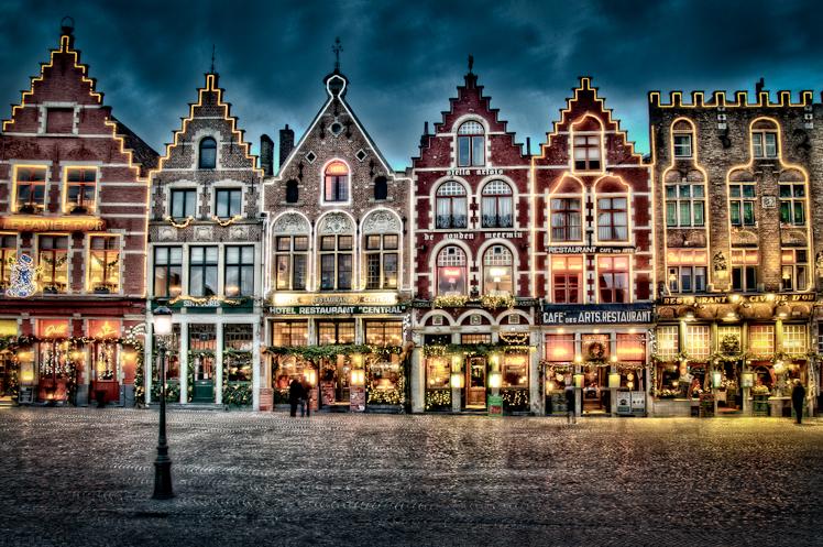 Замечательный  дом в сказочном Брюгге, Бельгия