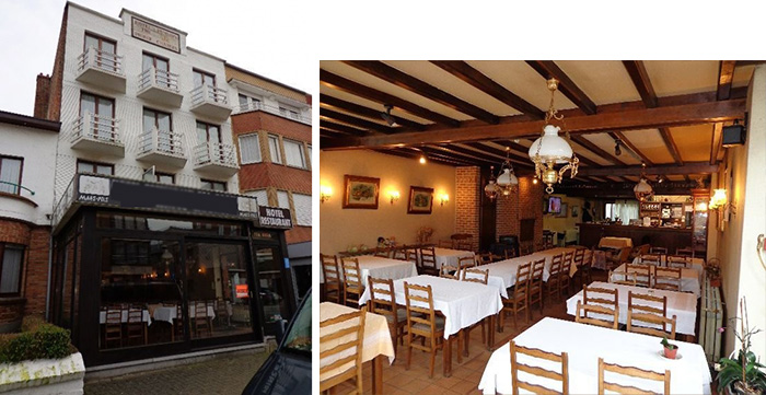 Отель-ресторан в Бельгии, в 400 м от моря, на границе с Францией