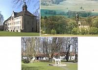 Замок рядом с заповедной зоной в Нидерзаксен, Германия