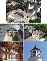 Замок в архитектурном стиле барокко рядом с Лейпцигом, Германия