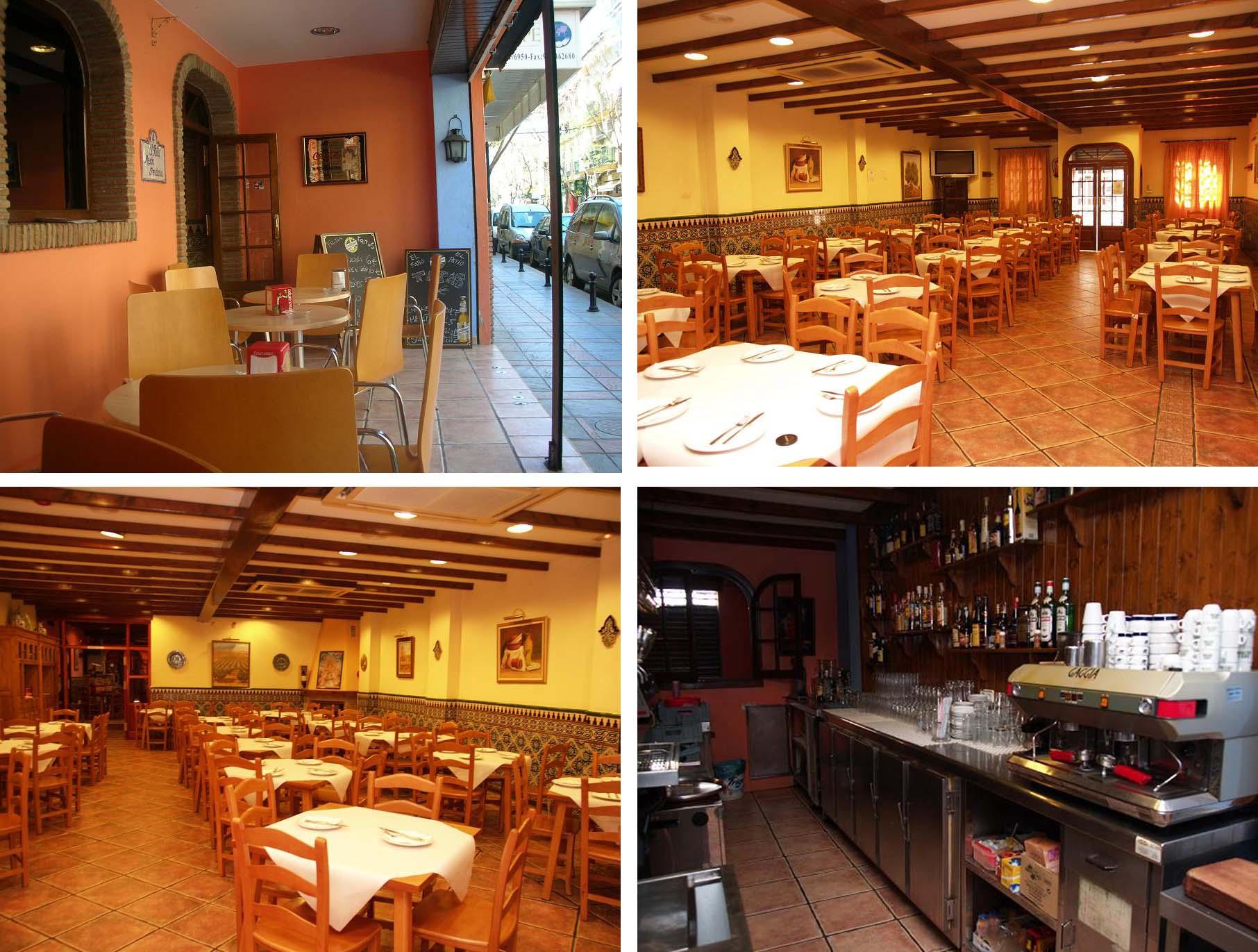 Ресторан на юге Испании, на Коста-Дель-соль, у моря