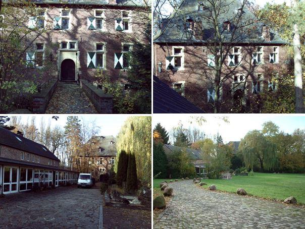 Замок 16 века между Кёльном и Аахеном, Германия