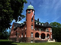 Замок расположенный на острове в Балтийском море, Германия