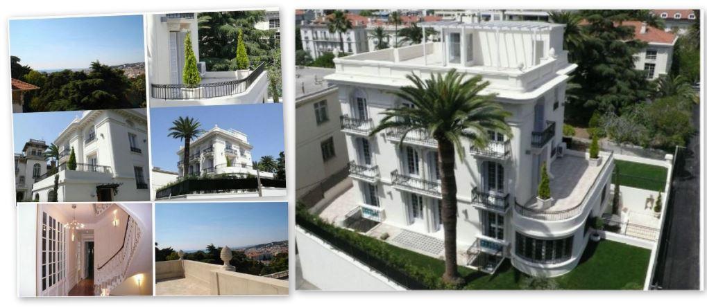 Красивейший дом – вилла в буржуазном квартале Ниццы.