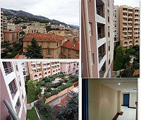 В 100 м от Монако, с видом на Монако, в Босолее, Франция, красивая квартира
