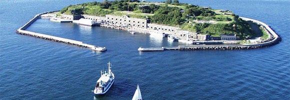 Живописный остров рядом с Копенгагеном, Дания
