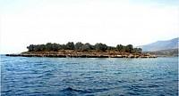 Остров в Коринфском заливе в Греции