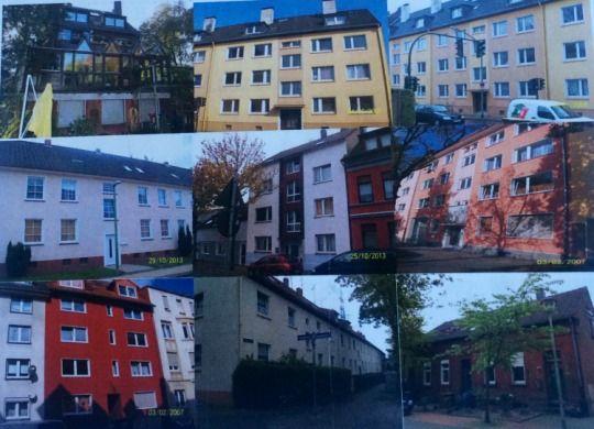 11 многоквартирных домов в Эссене, Германия, 600 000 жителей.