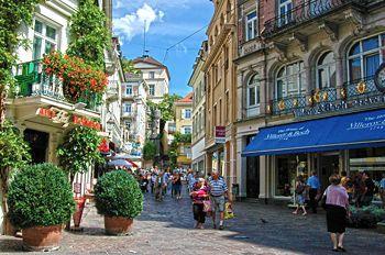Гостиница в центре Баден-Бадена, Германия.