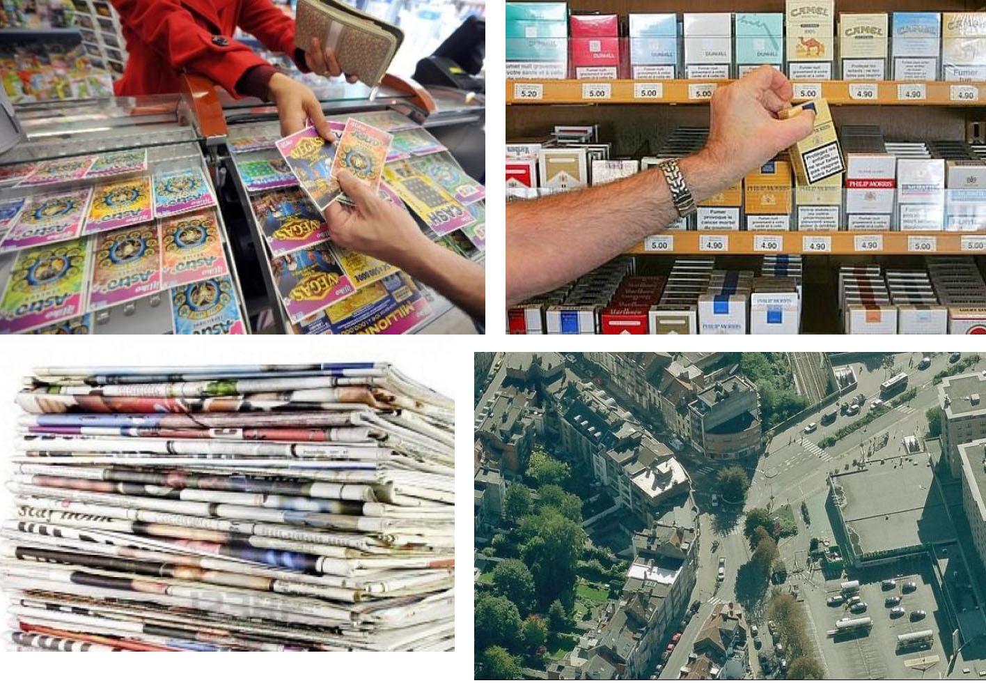 Магазин по продаже журналов, газет, сигарет в Брюсселе, Бельгия