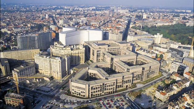 Небольшая Flat гостиница в Брюсселе в квартале Еврокомиссии.