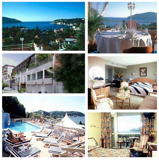 Гостиница напротив знаменитой бухты в Вильфранше, с потрясающим видом на Кап Ферра на Лазурном берегу Франции рядом с Монако.
