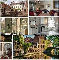 Небольшой отель самом центре средневекового Брюгге, Бельгия
