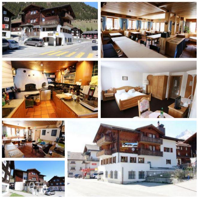 Гостиница в Швейцарии, в курортном месте кантона Граубюнден, 125 км от Давоса.