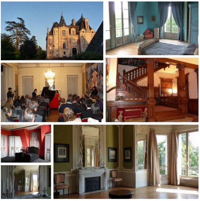 Красивый замок во Франции.