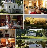 Красивый замок 17-го века во Франции, Атлантическая Луара, Бретань.