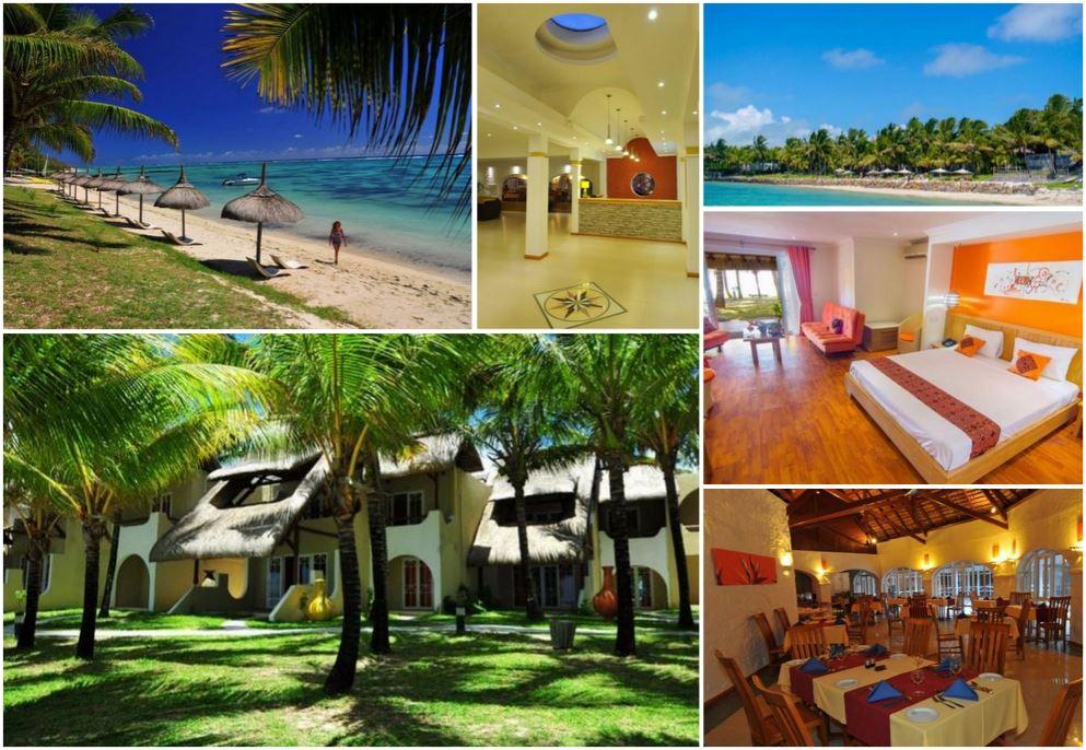 Красивая гостиница на восточном побережье острова Маврикий
