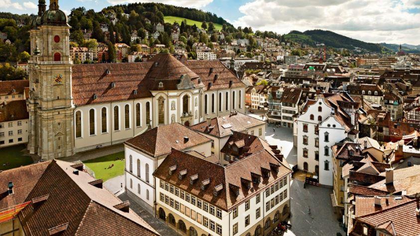 Современная гостиница в Сан-Галлене, Швейцария