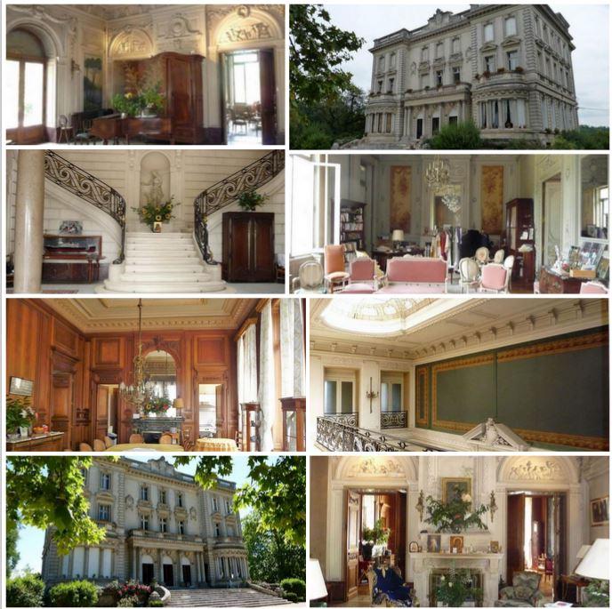 Красивый замок рядом с Бордо, Франция.
