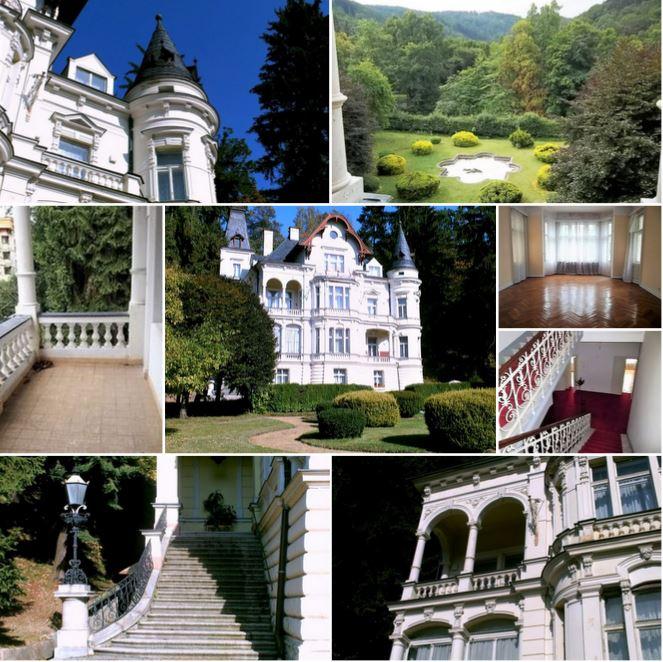 Замок 19 века в Карловых Варах, Чехия