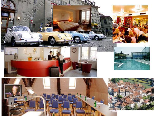 Гостиница в старинном швейцарском городе Фрибурге