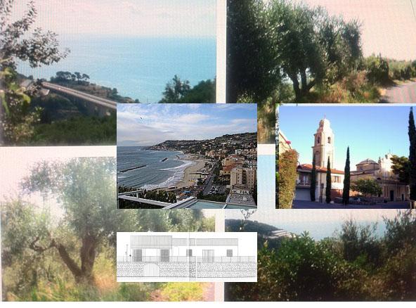 В Италии, на Лигурийском побережье, рядом с пляжами, участок под строительство.