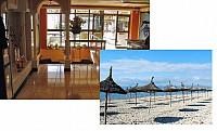 Ухоженная гостиница на Майорке, Испания, в 50 м от песчаного пляжа