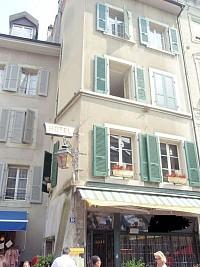 Небольшая гостиница - ресторан в самом центре Лозанны, Швейцария