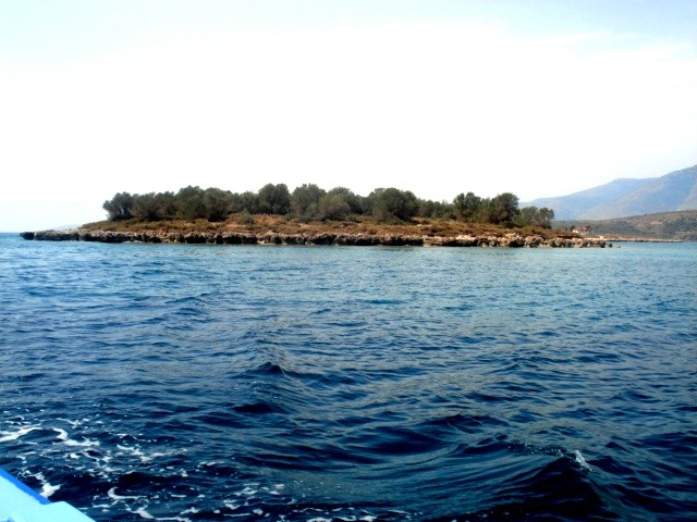 Целый остров в Коринфском заливе (Пелопоннес) с большим потенциалом развития