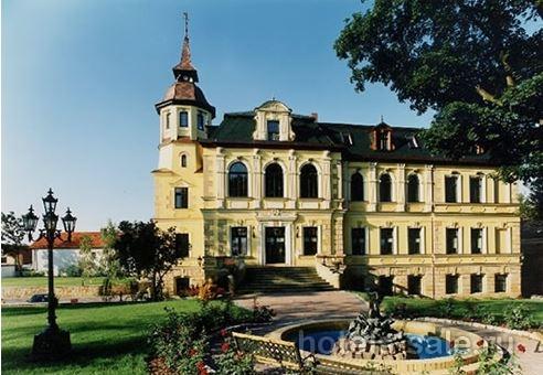 Замок в стиле барокко рядом с Лейпцигом, Германия
