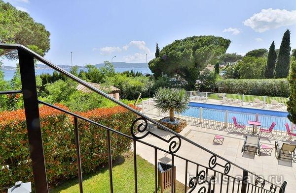 Трехзвездочная гостиница в 50 м от моря – с видом на море Лазурного берега - залив Сан Тропе