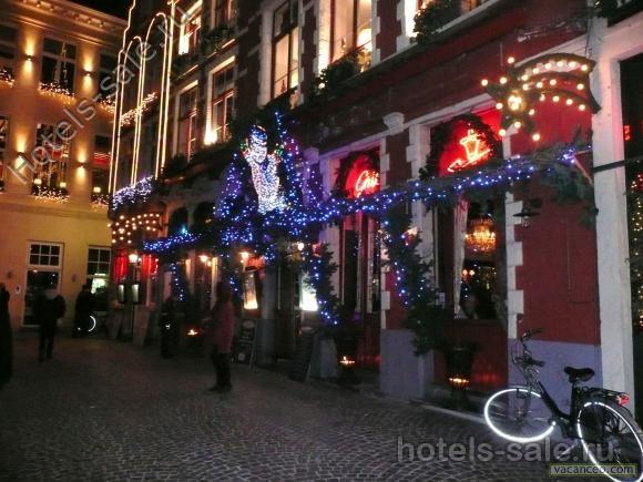 Гостиница в центре Брюгге, Бельгия.
