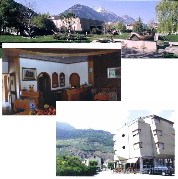 Гостиница в Мартини, между Монтре и знаменитым Шамоникс в Швейцарии в кантоне Вале